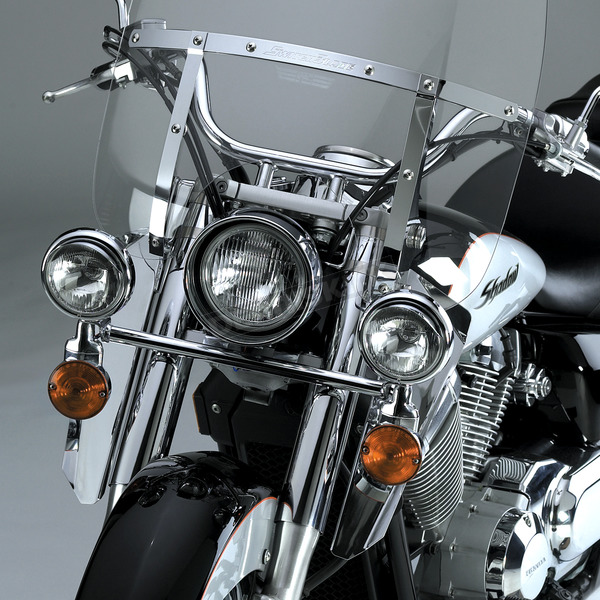 National Cycle 16 in. Chrome Switchblade Windshield Lowers - N76609