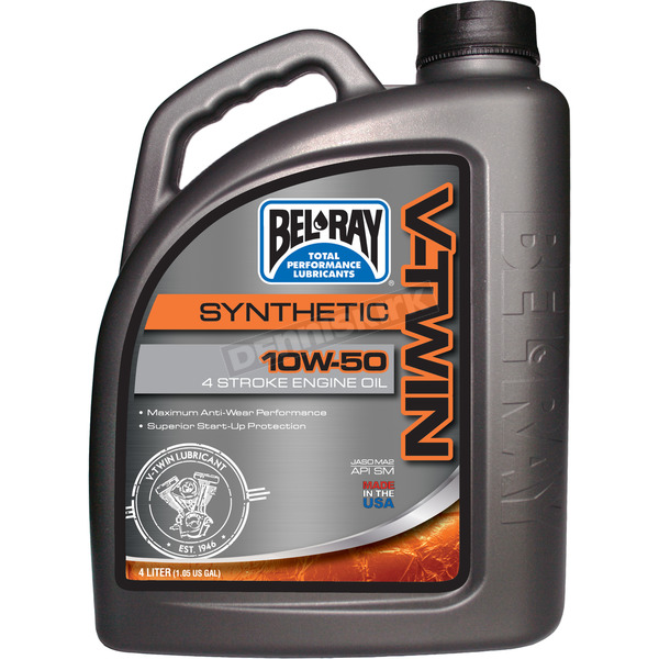 Bel-Ray 10W50 V-Twin Synthetic Motor Oil  - 96915-BT4
