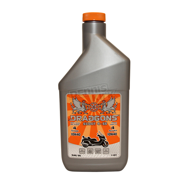 Draggons 4-Stroke Semi-Synthetic 10W40 Scooter Oil - 1400-1079