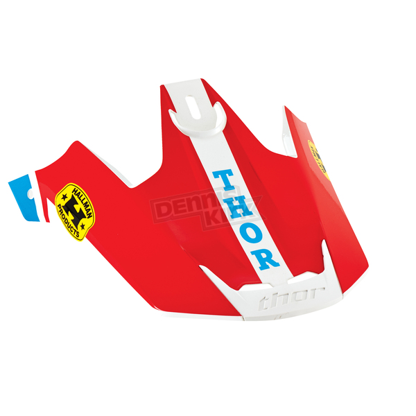 Thor Blue/Red Replacement Visor Kit for Verge Pro GP Helmet  - 0132-0839