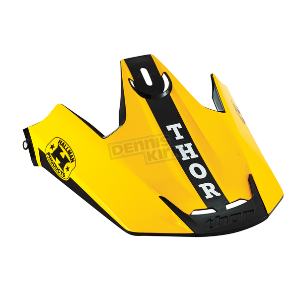 Thor Yellow/Black Replacement Visor Kit for Verge Pro GP Helmet  - 0132-0840