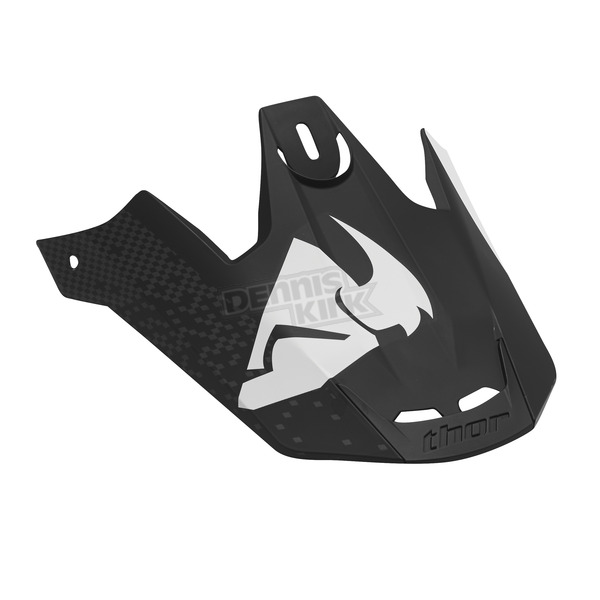 Thor Black/White Verge Tach Visor Kit - 0132-0919