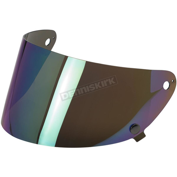 Biltwell Rainbow Mirror Gringo S Flat Shield - SF-RNB-GS-SD