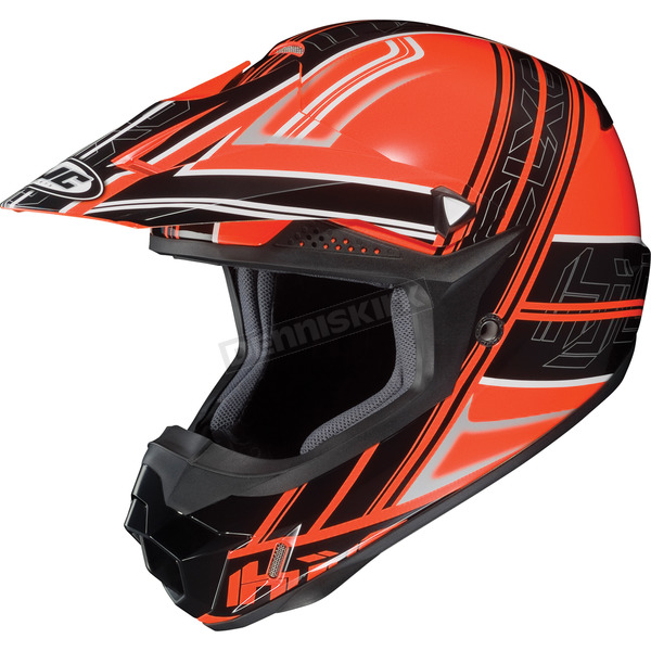 HJC Orange/Black/Silver Slash CL-X6 Helmet - 732-966