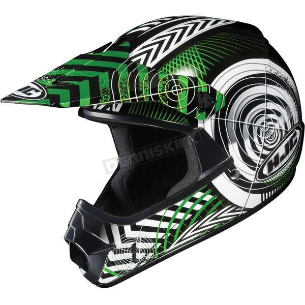 HJC Youth Green/Black/White Wanted CL-XY Helmet - 274-944