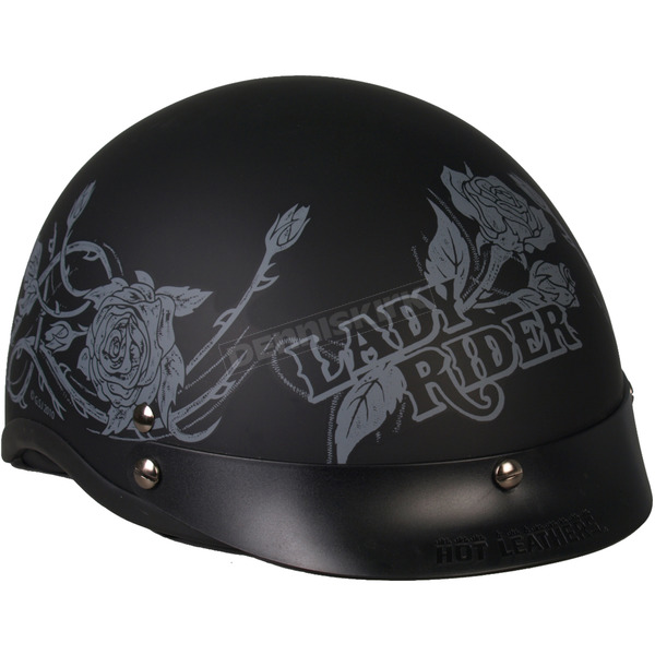 Hot Leathers Womens Lady Rider Gray Roses Helmet - HLD1021S