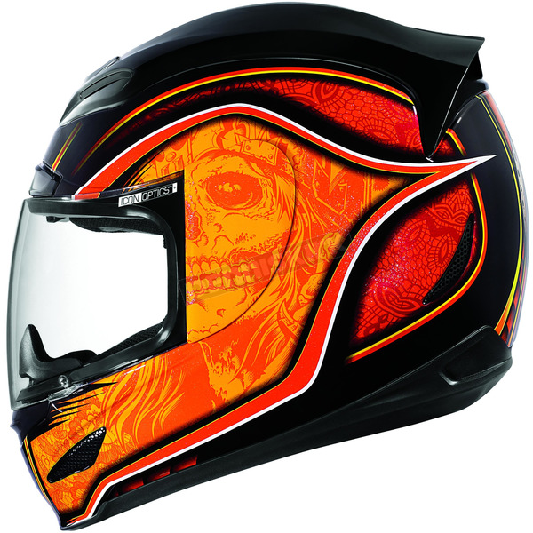 Icon Orange Medicine Man Airmada Helmet - 01016511