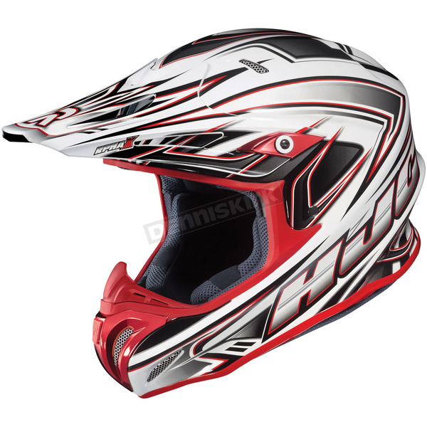 HJC White/Silver/Red Airaid RPHA-X  MC-1 Helmet - 1568-916