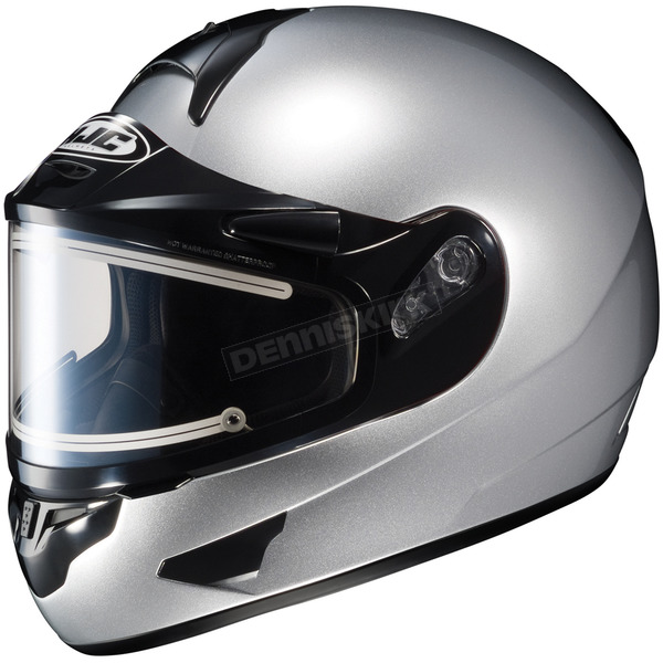 HJC Metallic Silver CL-16SN Helmet w/Electric Shield - 005-576