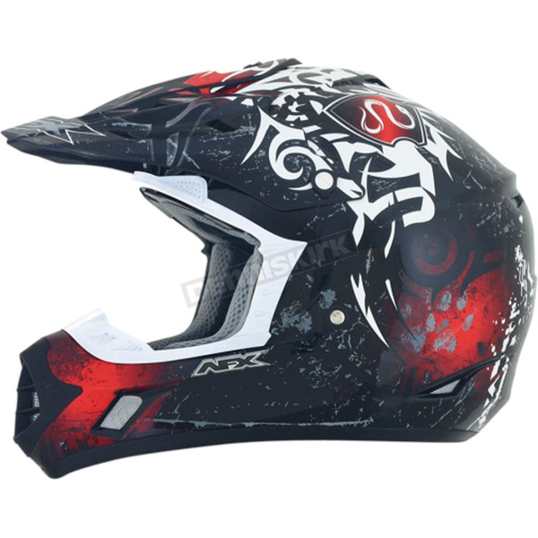 AFX Red Multi FX-17 Danger Helmet - 0110-3818