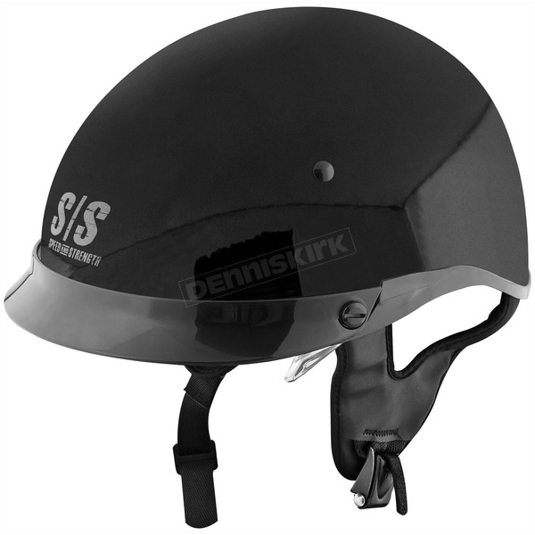 Speed and Strength Gloss Black Solid Speed SS400 Helmet - 87-7150