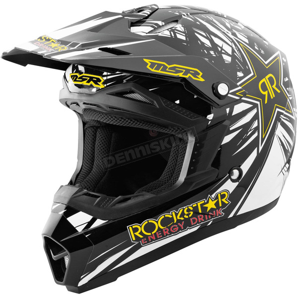 MSR Racing Youth Black/Yellow Rockstar IV Assault Helmet - 359290