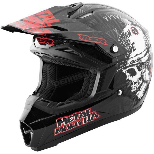 MSR Racing Youth Black/Red Broadcast Assault Helmet - 359293