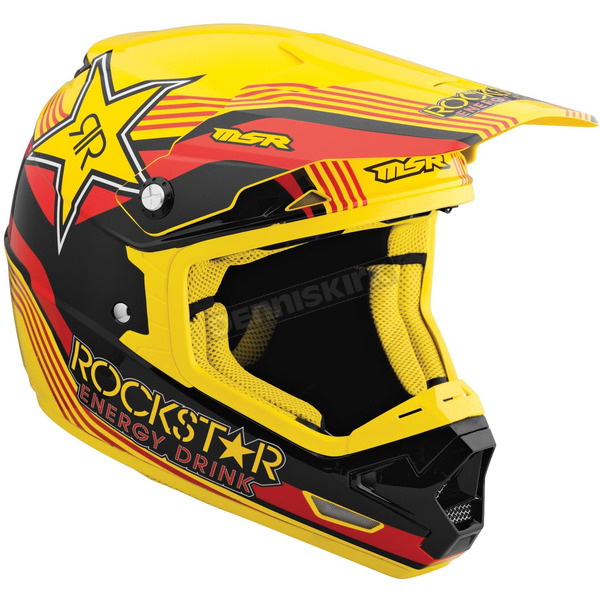 MSR Racing Red/Yellow/Black Mav-1 Rockstar V Helmet - 359335
