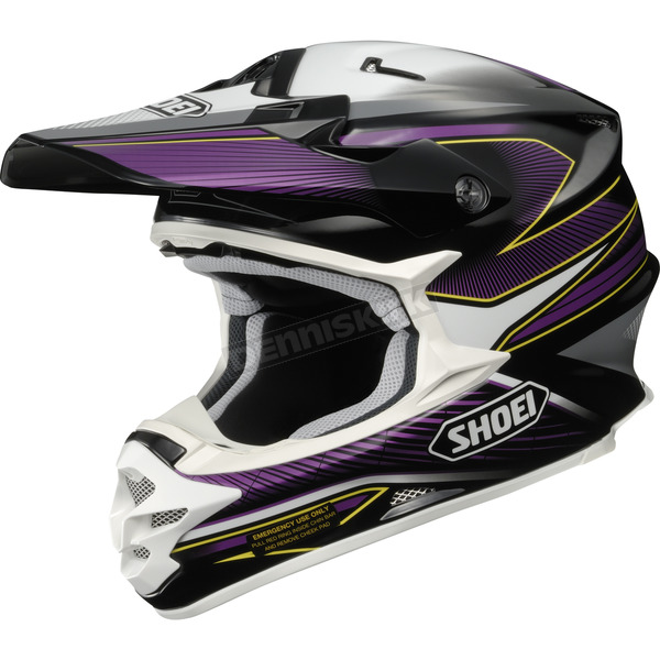 Shoei Helmets Black/Purple/White VFX-W Sear TC-11 Helmet - 0145-8311-06