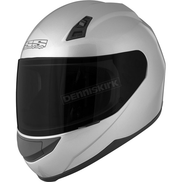 Speed and Strength Gloss Silver SS700 Solid Speed Helmet - 87-6845