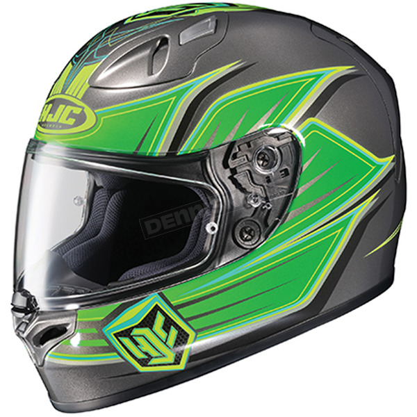 HJC Green/Charcoal FG-17 Banshee MC-4 Helmet  - 634-942