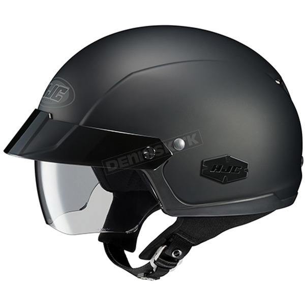 HJC Matte Black IS-Cruiser Half Helmet  - 488-614