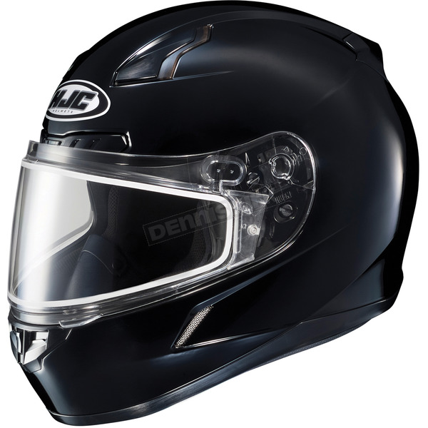 HJC Black CL-17SN Helmet w/Frameless Dual Lens Shield - 825-603