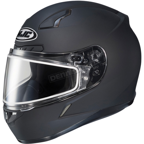 HJC Matte Black CL-17SN Helmet w/Frameless Dual Lens Shield - 825-618
