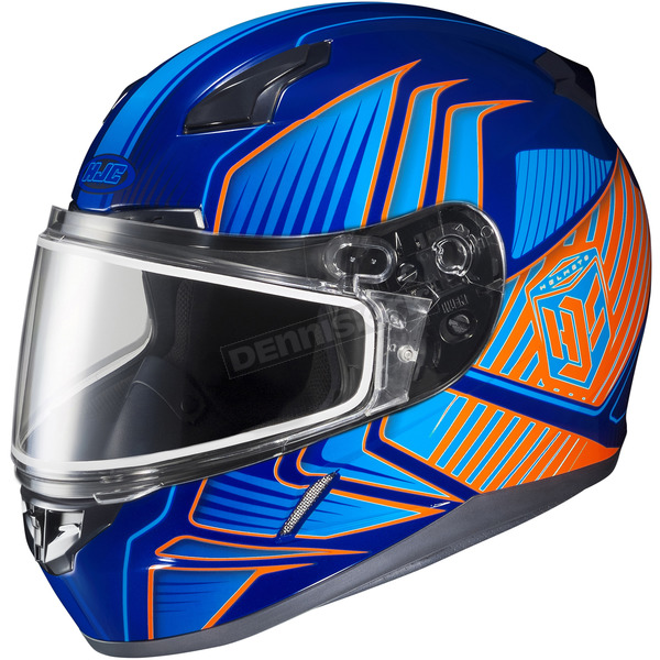 HJC Purple/Blue/Orange CL-17SN MC-26 Redline Helmet w/Frameless Dual Lens Shield - 1151-1126-08