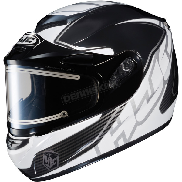 HJC Black/White/Silver CS-R2SN MC-5 Injector Helmet with Framed Electric Shield - 1212-1705-03