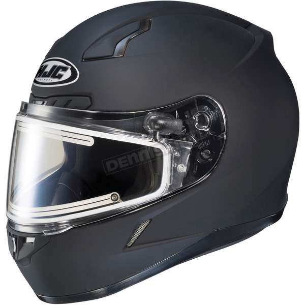 HJC Matte Black CL-17SN Helmet w/Frameless Electric Shield - 125-613
