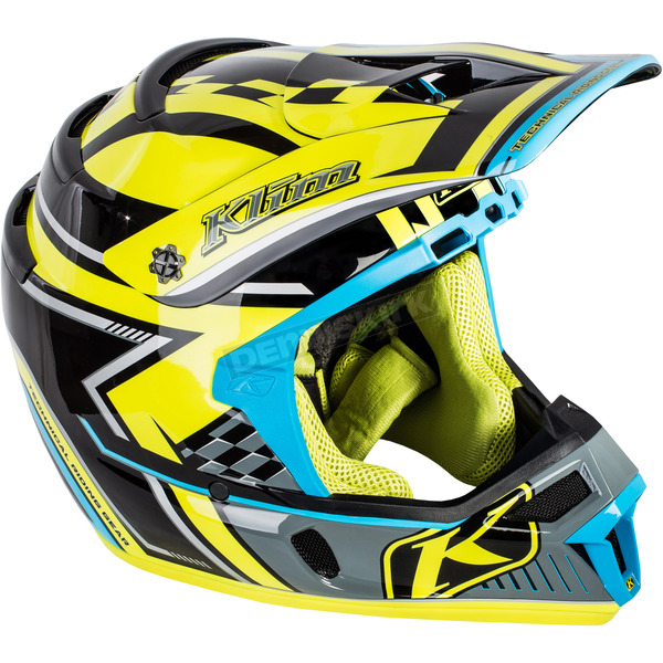 Klim Blue/Yellow/Black F4 Legacy Voltage Helmet - 5106-001-140-301