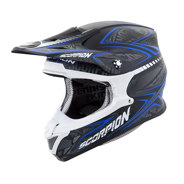 Scorpion Black/Blue VX-R70 Blur Helmet - 70-5027