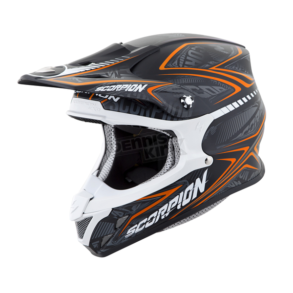 Scorpion Black/Orange VX-R70 Blur Helmet - 70-5087