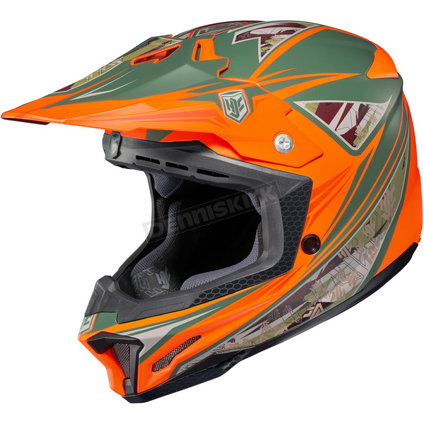 HJC Orange/Green MC-6F CL-X7 Dynasty Helmet - 0864-1236-05
