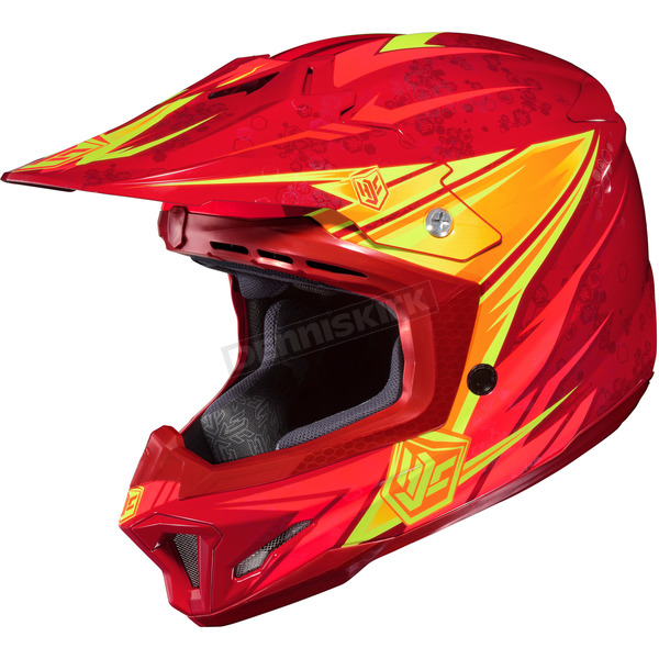HJC Red/Orange/Yellow MC-1 CL-X7 Pop 'N Lock Helmet - 744-913