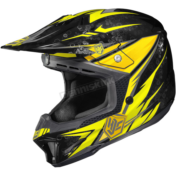 HJC Yellow/Black MC-3 CL-X7 Pop 'N Lock Helmet - 57-1336