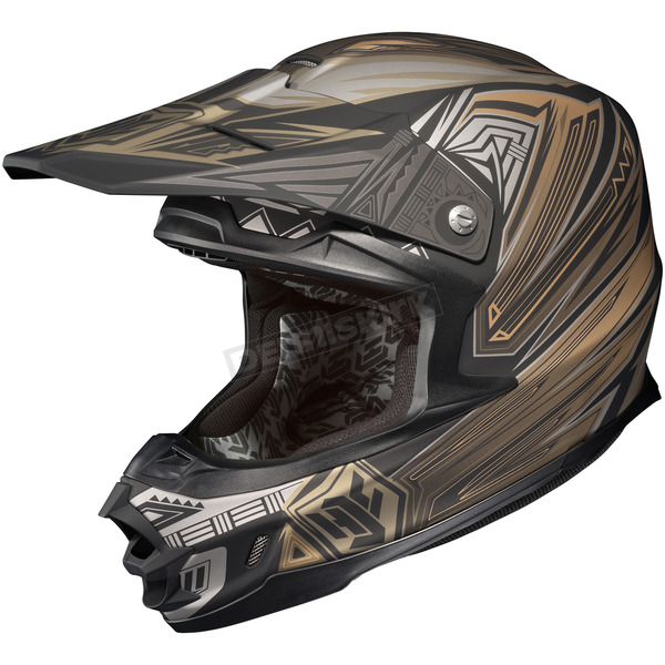 HJC Matte Black/Gray/Gold MC-5F FG-X Legendary Lucha Helmet - 58-6459