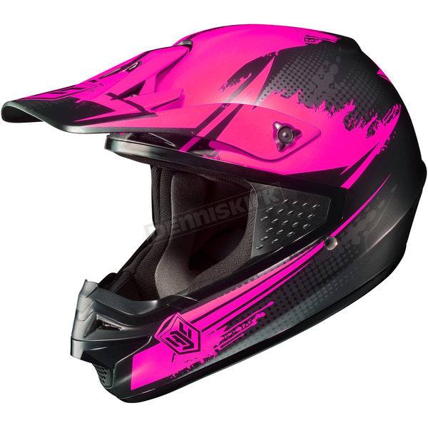 HJC Hi-Viz Neon Pink/Black MC-8F CS-MX Second Phase Helmet - 0870-2008-03