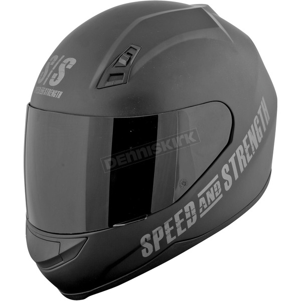 Speed and Strength Matte Black Go For Broke SS700 Helmet - 87-5806