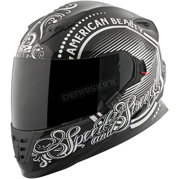 Speed and Strength Black/Silver American Beauty SS1600 Helmet - 87-8566