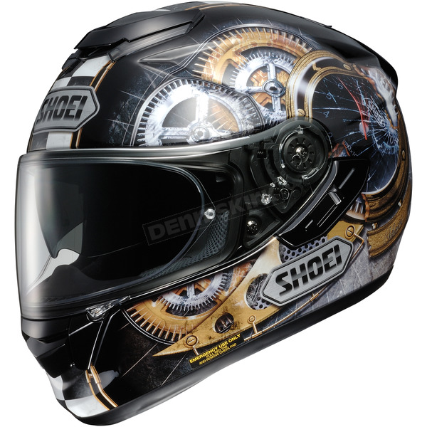 Shoei Helmets Black/Gold/Silver GT-Air Cog TC-9 Helmet - 0118-1409-06