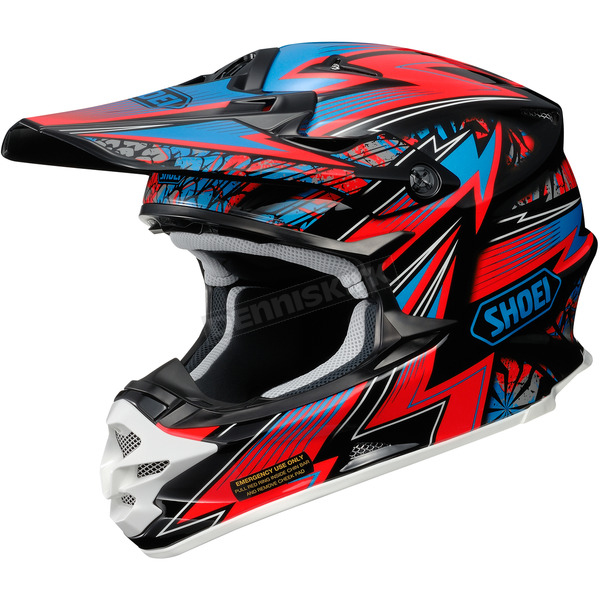 Shoei Helmets Red/Blue/Black VFX-W Maelstrom TC-1 Helmet - 0145-8501-05