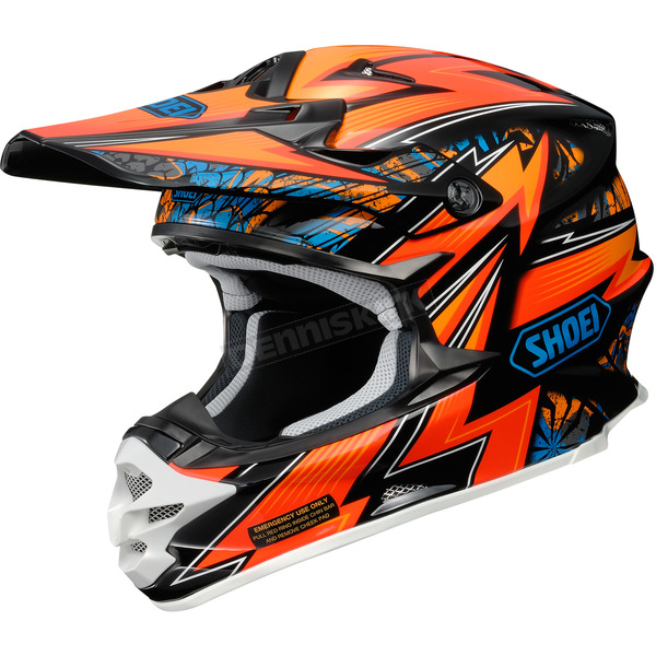Shoei Helmets Orange/Blue/Black VFX-W Maelstrom TC-8 Helmet - 0145-8508-04