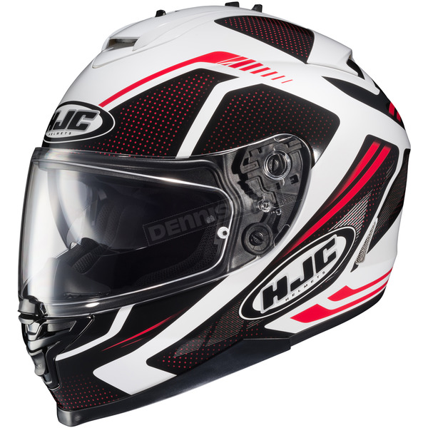 HJC Red/Black/White IS-17 MC-1 Spark Helmet - 58-4919