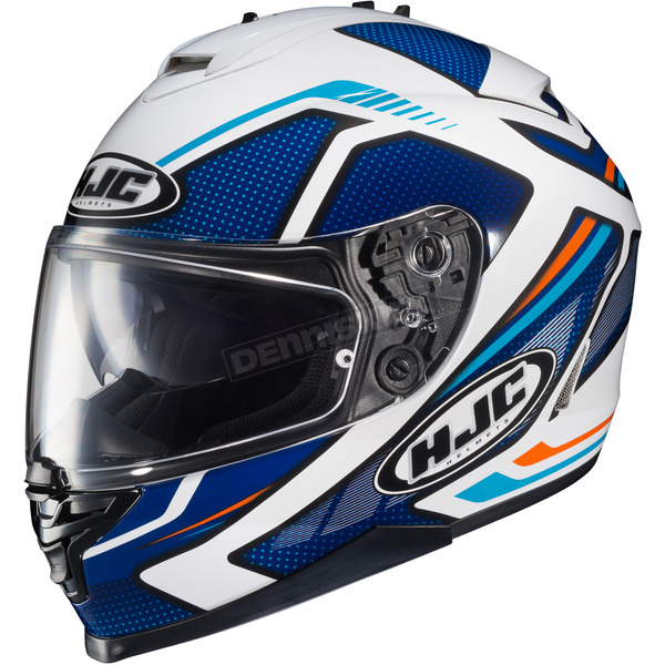 HJC Blue/White/Orange IS-17 MC-2 Spark Helmet - 58-4924