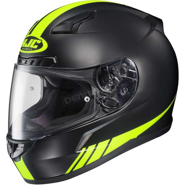 HJC Black/Hi Viz Yellow CL-17 MC-3HF Streamline Helmet - 838-835