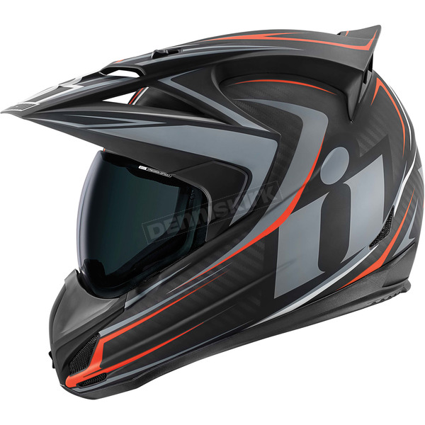 Icon Black/Gray Variant Raiden Helmet - 0101-7816