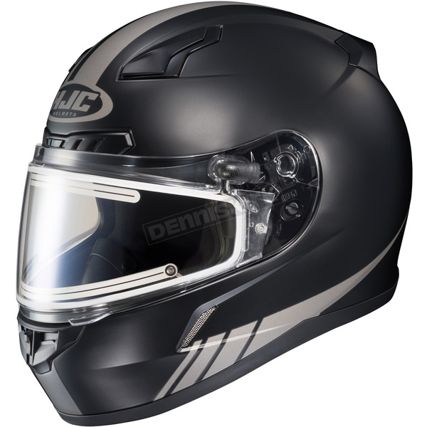 HJC Matte Black/Reflective CL-17SN Streamline MC-5RF Snowmobile Helmet w/Electric Shield - 57-29551