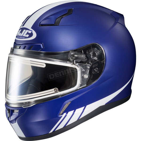 HJC Matte Blue/White CL-17SN Streamline MC-2F Snowmobile Helmet w/Electric Shield - 57-29526