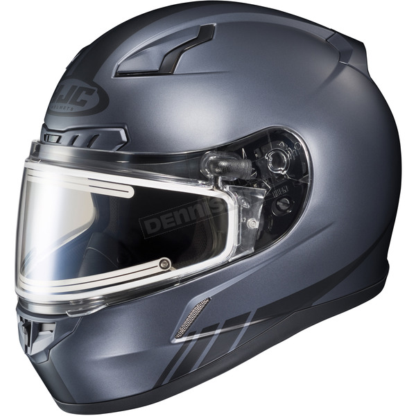 HJC Matte Anthracite/Black CL-17SN Streamline MC-5F Snowmobile Helmet w/Electric Shield - 57-29564