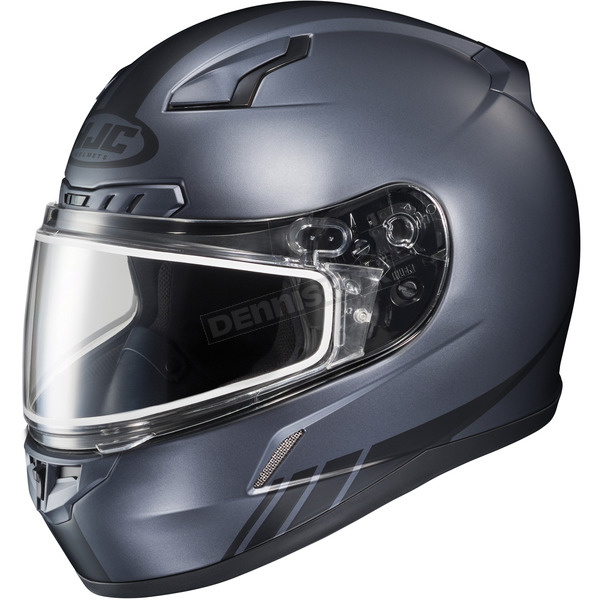 HJC Matte Anthracite CL-17SN Streamline MC-5F Snowmobile Helmet w/Dual Lens Shield - 57-19566