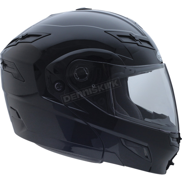 GMax Black GM54S Modular Snowmobile Helmet with Dual Lens Shield - 72-6200M