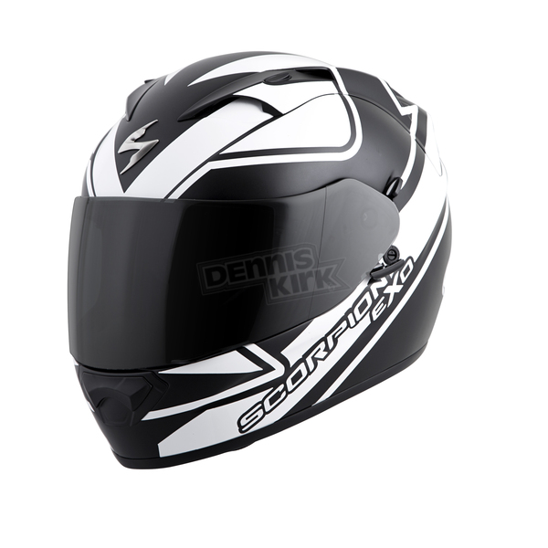 Scorpion White/Black EXO-T1200 Freeway Helmet - T12-3056